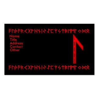 Laguz Rune red Business Card