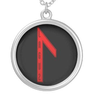 Laguz Rune red Round Pendant Necklace