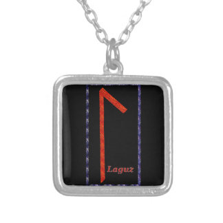 Laguz Rune Silver Plated Necklace