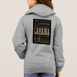 Lahaina City of Hawaii Typography Art Hoodie