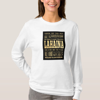 Lahaina City of Hawaii Typography Art T-Shirt