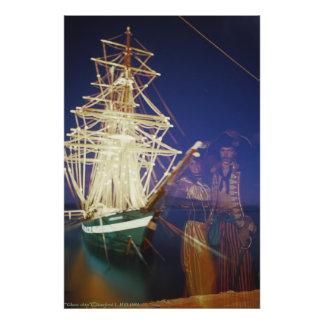 Lahaina Maui Hawaii Pirate Ghost Ship Photo Print