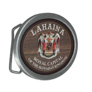 Lahaina - Royal Capital of the Hawaiian Kingdom Belt Buckle
