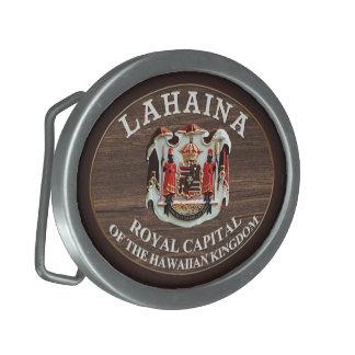 Lahaina - Royal Capital of the Hawaiian Kingdom Oval Belt Buckles