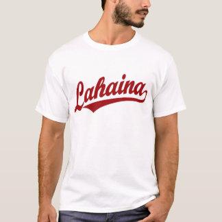 Lahaina script logo in red T-Shirt