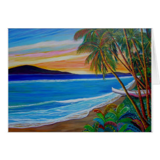 Lahaina sunset card