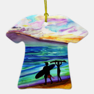 Lahaina Surf Lesson Christmas ornament