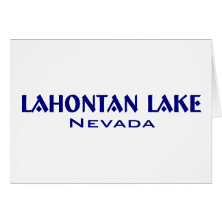 Lahanton Lake Nevada Card