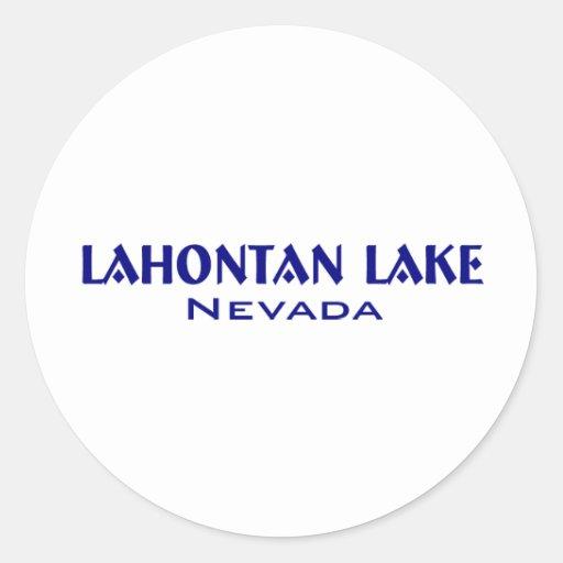 Lahanton Lake Nevada Sticker