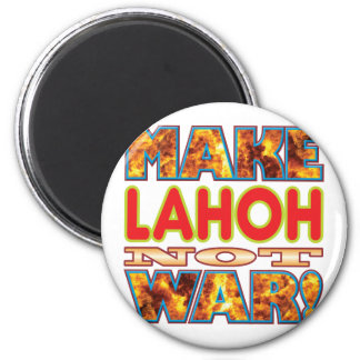 Lahoh hace X Imán Redondo 5 Cm