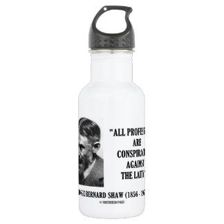 Laicado de las conspiraciones de George B. Shaw Botella De Agua