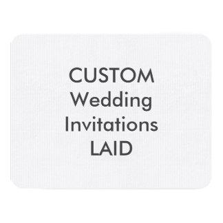 """LAID 100lb 5.5"""" x 4.25"""" Wedding Invitations"""