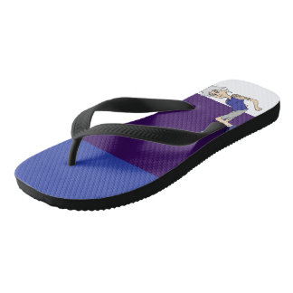 Laid back and relaxing. flip flops
