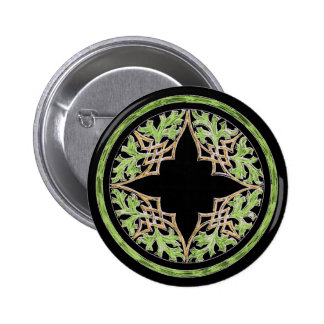 Laid back brown and green ornament button