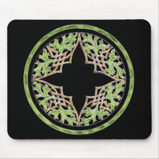 Laid back brown and green ornament mousepads