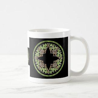 Laid back brown and green ornament classic white coffee mug
