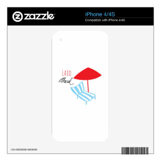 Laid Back Decal For iPhone 4S