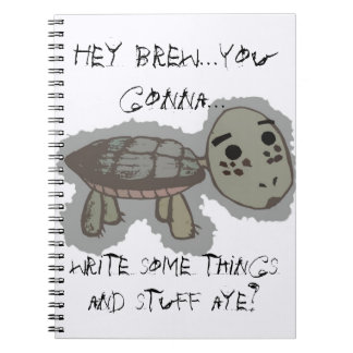 Laid Back Turtle Notebook