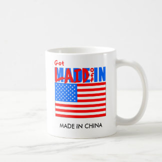LAID OFF IN AMERICA, MADE IN CHINA CLASSIC WHITE COFFEE MUG