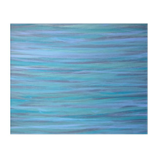 Laidback Original Handpainted Blue Stripe Abstract Acrylic Wall Art