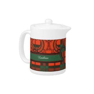 Laidlaw clan Plaid Scottish kilt tartan Teapot