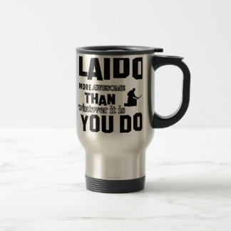 Laido is awesome 15 oz stainless steel travel mug