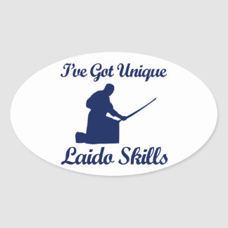 laido martial art designs oval sticker