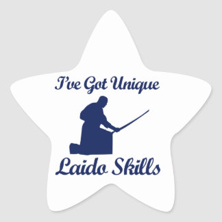 laido martial art designs star sticker