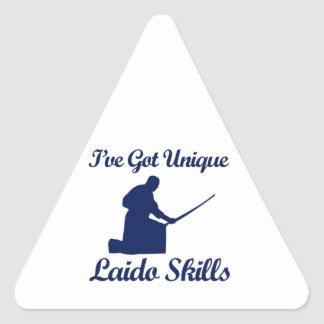 laido martial art designs triangle sticker