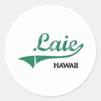 Laie Hawaii City Classic Sticker