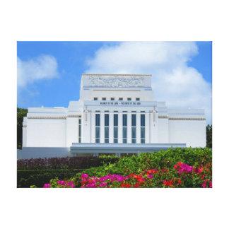 Laie, Hawaii Mormon Temple Canvas Print