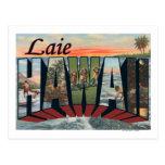 Laie, letra ScenesLaie, HI de HawaiiLarge Tarjeta Postal