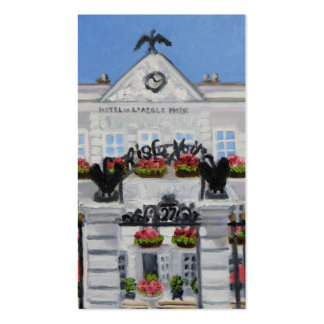 """""""L'Aigle Noir Hotel Business Card"""" Double-Sided Standard Business Cards (Pack Of 100)"""