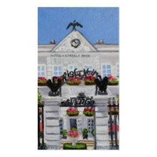 L'Aigle Noir Hotel:Fontainebleau business card
