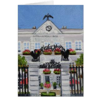 L'Aigle Noir Hotel:Fontainebleau FRANCE Card