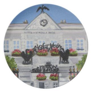 L'Aigle Noir Hotel:Fontainebleau, France Plate