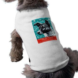 Laika 1957 el perro del espacio playera sin mangas para perro