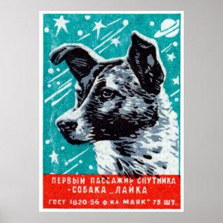 Laika 1957 el perro del espacio póster