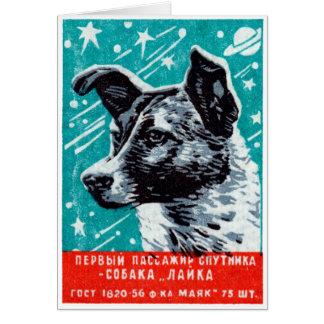 Laika 1957 el perro del espacio felicitación