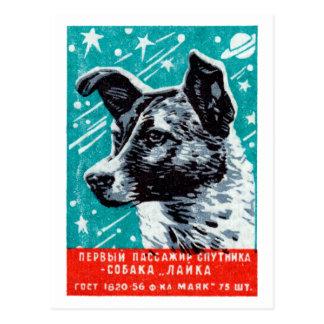 Laika 1957 el perro del espacio postal