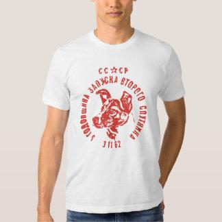 Laika - camiseta soviética del perro CCCP del Playera
