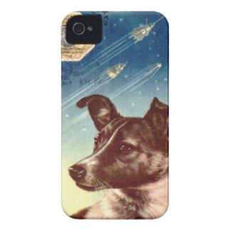 Laika el iphone ruso 4 del perro del espacio iPhone 4 Case-Mate cobertura