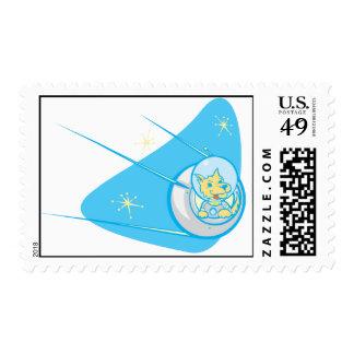 Laika in a Sputnik Postage