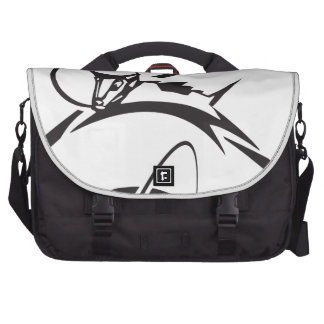 Laika over Earth Black and White Bags For Laptop