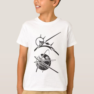 Laika over Earth Black and White T-Shirt