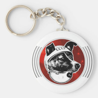 Laika The Space Dog Signal Transmission Keychain