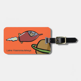 laika the spacedog tags for bags