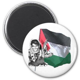 Laila Khaled 2 Inch Round Magnet