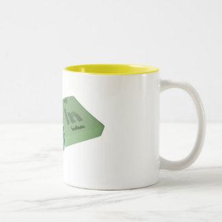 Lain as La Lanthanum and In Indium Two-Tone Coffee Mug