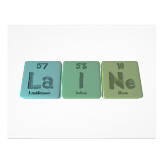 Laine as Lanthanum Iodine Neon Full Color Flyer
